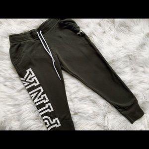 vs pink lounge cropped sweatpants